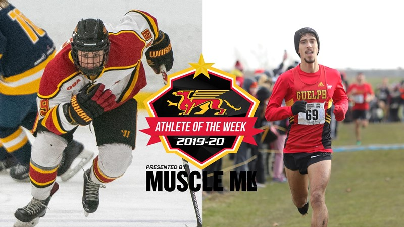 Mitch Ubene (Men's Cross Country) & Miranda Lantz (Women's Hockey) Named Gryphon MUSCLE MLK Athletes of the Week
